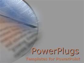 PowerPoint template displaying a book in the background with grey sides
