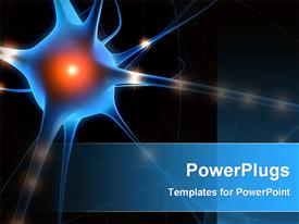 Anatomy illustration of a nerve cell powerpoint theme