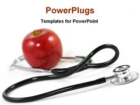 Apple and stethoscope powerpoint theme