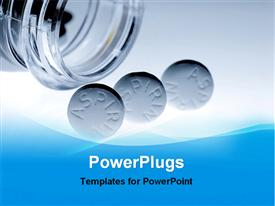 Aspirin tablets template for powerpoint