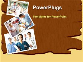 PowerPoint template displaying number doctors brown background