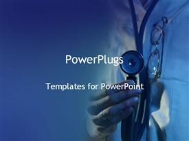 Doctor with stethoscope powerpoint template