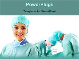 PowerPoint template displaying number doctors working hospital