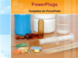 PowerPoint template displaying drugs and injections