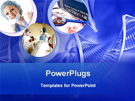 PowerPoint template displaying depictions showing medical science