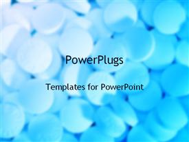 PowerPoint template displaying close up of pills, medicine, pharmacy, pharmaceuticals