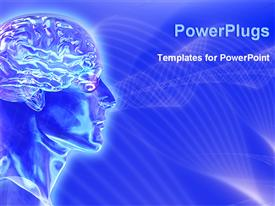 Image represents brain waves of human body template for powerpoint