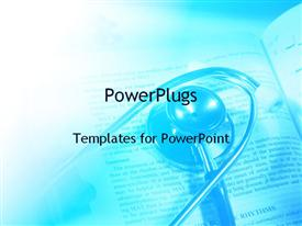Stethoscope on medical books powerpoint template