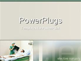 PowerPoint template displaying a doctor showing the report to a patient