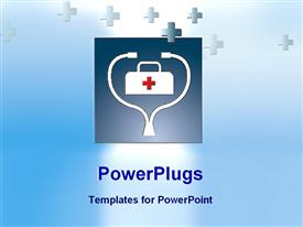 PowerPoint template displaying symbol of medical science