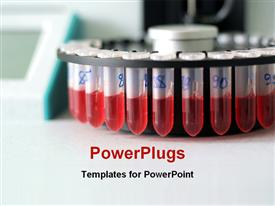 Test of blood template for powerpoint