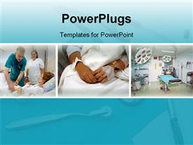 PowerPoint template displaying different patients hospital, Hospital different departments