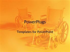 Wheel chair powerpoint template