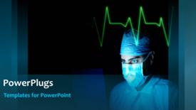 PowerPoint template displaying medical Concept