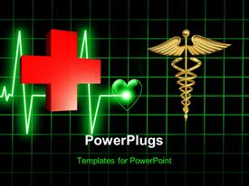PowerPoint template displaying medical background