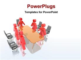 Image of a board meeting powerpoint design layout