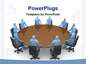 Business meeting going on template for powerpoint