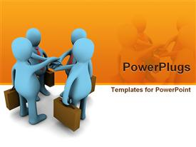 Conceptual image of teamwork template for powerpoint