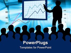 PowerPoint template displaying a teachers teaching the students about finance