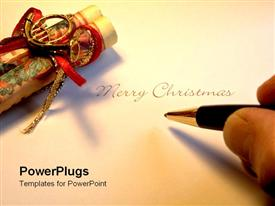 PowerPoint template displaying writing a Christmas letter