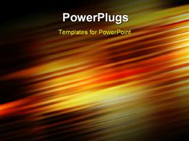 PowerPoint template displaying abstract background with colorful lines and motion blur