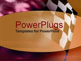 PowerPoint template displaying a checkered flag with place for text in the middle
