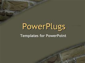 PowerPoint template displaying a number of bricks with brownish background