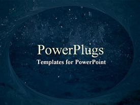 PowerPoint template displaying an opening showing the night view of the sky with lots of stars