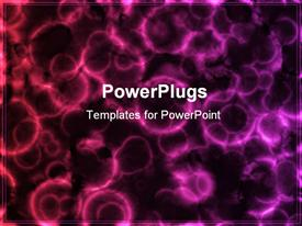 PowerPoint template displaying microscopic Cell Organisms as an Abstract Art in the background.