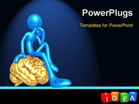 PowerPoint template displaying idea (buzzword colorful cubes 3D hires series)