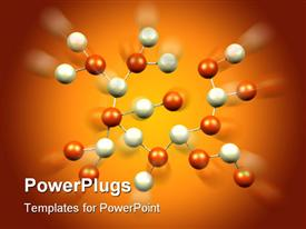 PowerPoint template displaying atomic Science Molecules