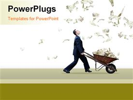 PowerPoint template displaying money_G_0312