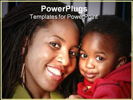 Mother and child powerpoint design layout