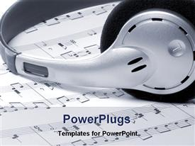 Headphone in music notes powerpoint theme