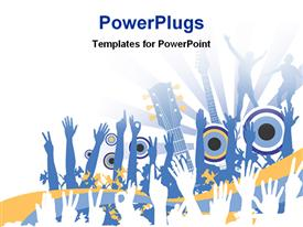 PowerPoint template displaying a number of people enjoying the music