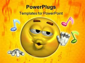Musical emoticon powerpoint theme