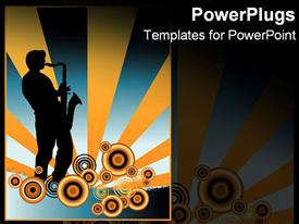 Silhouette of a musician presentation background