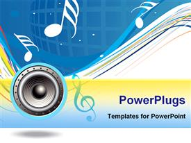 PowerPoint template displaying spirals music theme with white background