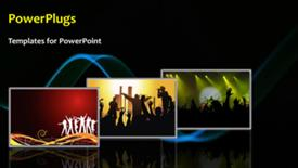 PowerPoint template displaying party background