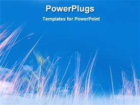 PowerPoint template displaying beauty of nature under the blue sky in the background.