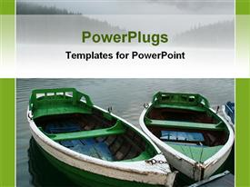 PowerPoint template displaying boats on waters in the background.
