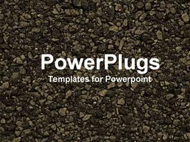 Close-up of gravel powerpoint theme
