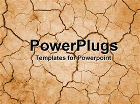 PowerPoint template displaying cracked desert ground in the background.