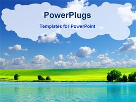 Field on a background of the blue sky powerpoint theme