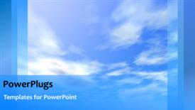 PowerPoint template displaying a bluish background with a bullet point - widescreen format