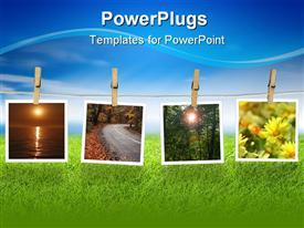 PowerPoint template displaying images of Natural Beauty