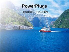 PowerPoint template displaying nature View in the background.