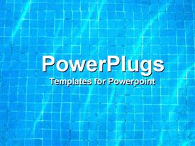 PowerPoint template displaying pool water