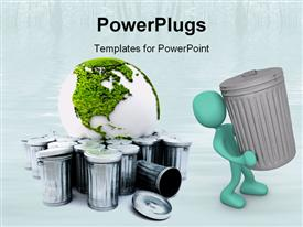 PowerPoint template displaying go green environmentally friendly recycle reduce reuse health sustainability