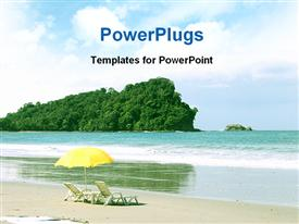 Tropical beach Manuel Antonio Costa Rica powerpoint design layout